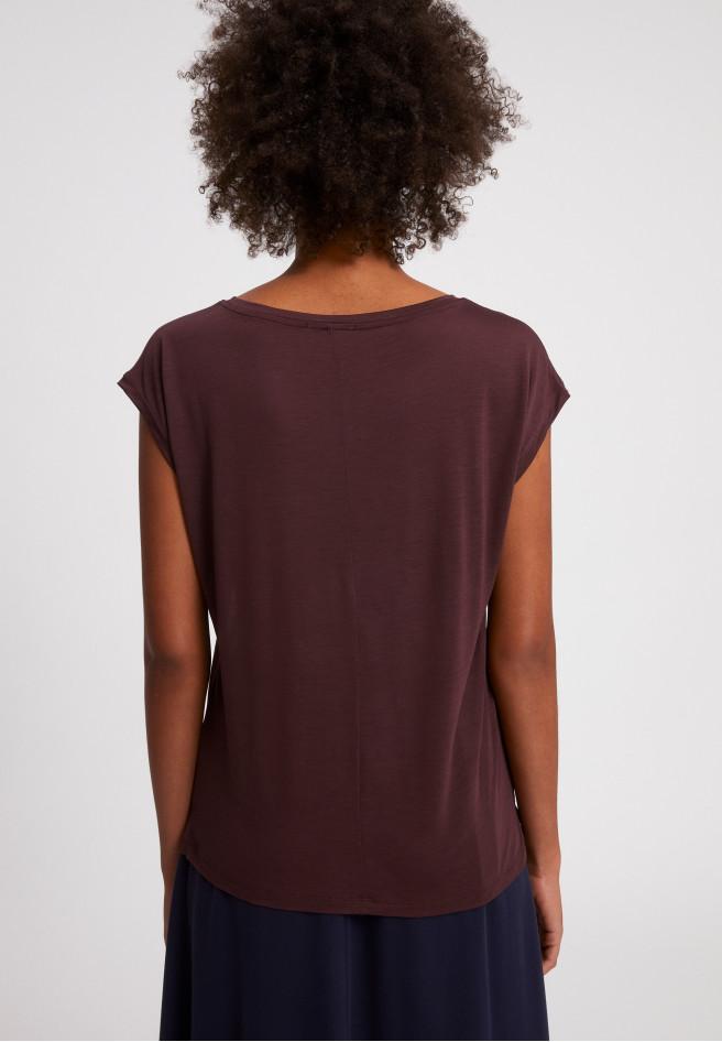 ARMEDANGELS JILAA - Damen T-Shirt aus TENCEL Lyocell aubergine