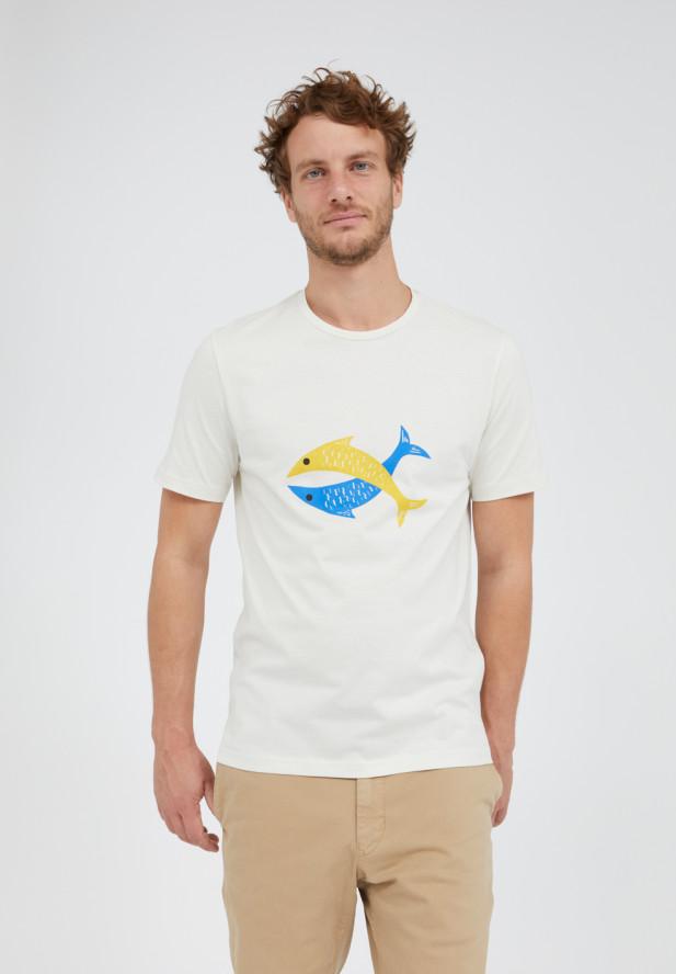 Armedangels  JAAMES FISH T-Shirt aus 100% Bio-Baumwolle light linen