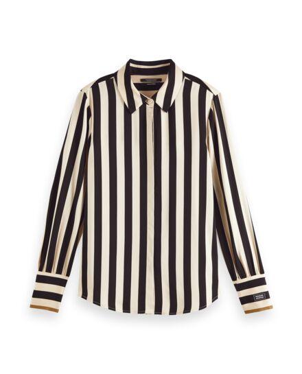 Scotch&Soda Langärmliges Shirt mit Streifen aus Viskose