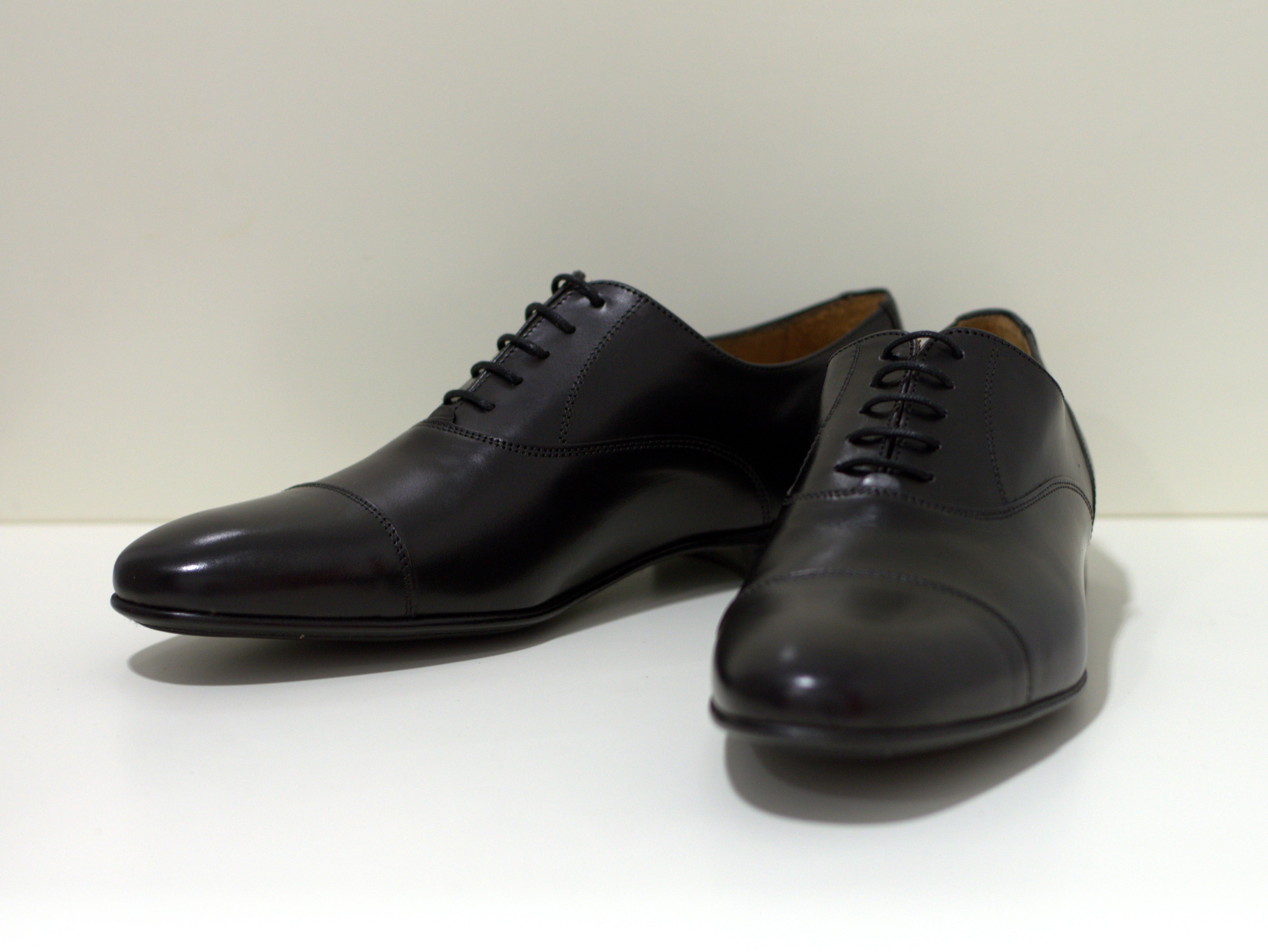 Paco Milan Toledo Negro Herren Business Schuh in schwarz