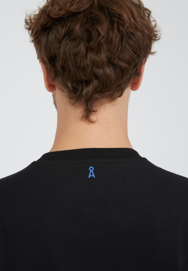 Armedangels  AADO DIGITAL T-Shirt aus 100% Bio-Baumwolle schwarz