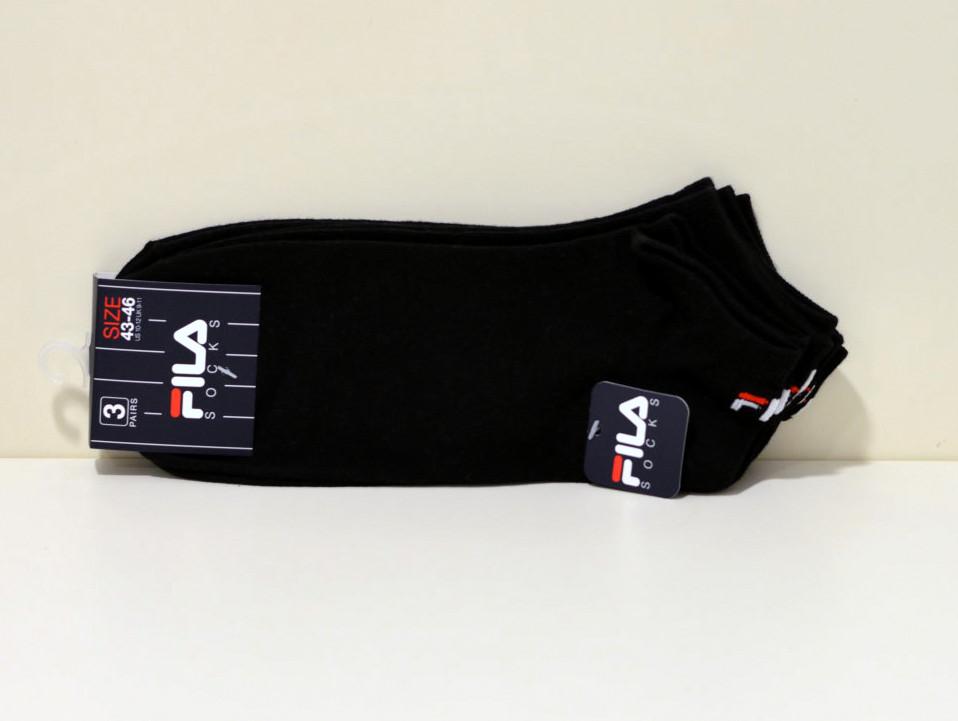 3er Pack FILA Unisex Sneaker Socken Schwarz mit Fernsen Logo