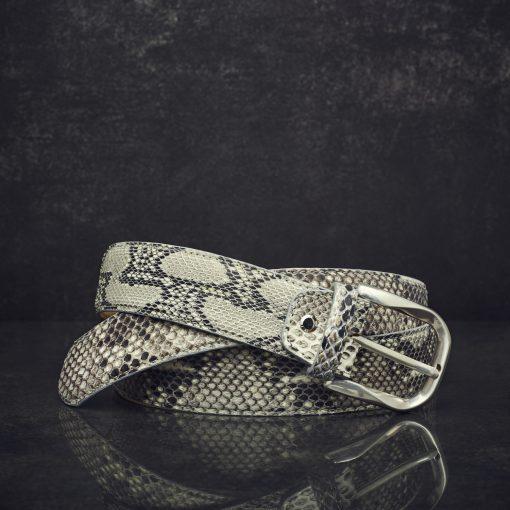 MGM Schlangenleder-Gürtel Python Breite 4,0 cm naturbelassen